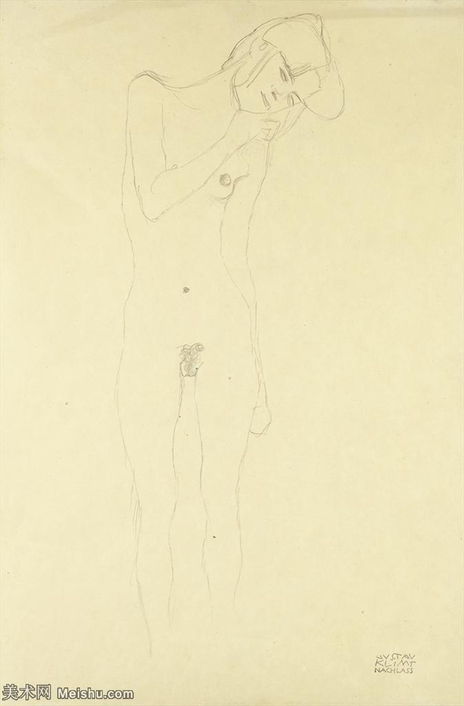 【打印级】SMR14151763-奥地利绘画大师克里姆特Austria Gustav Klimt素描手稿人物素描经典素描