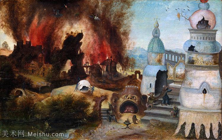 【打印级】YHR15112221-西方绘画大师HieronymusBosch耶罗尼米斯博斯油画荷兰画家波希超现实主义油画