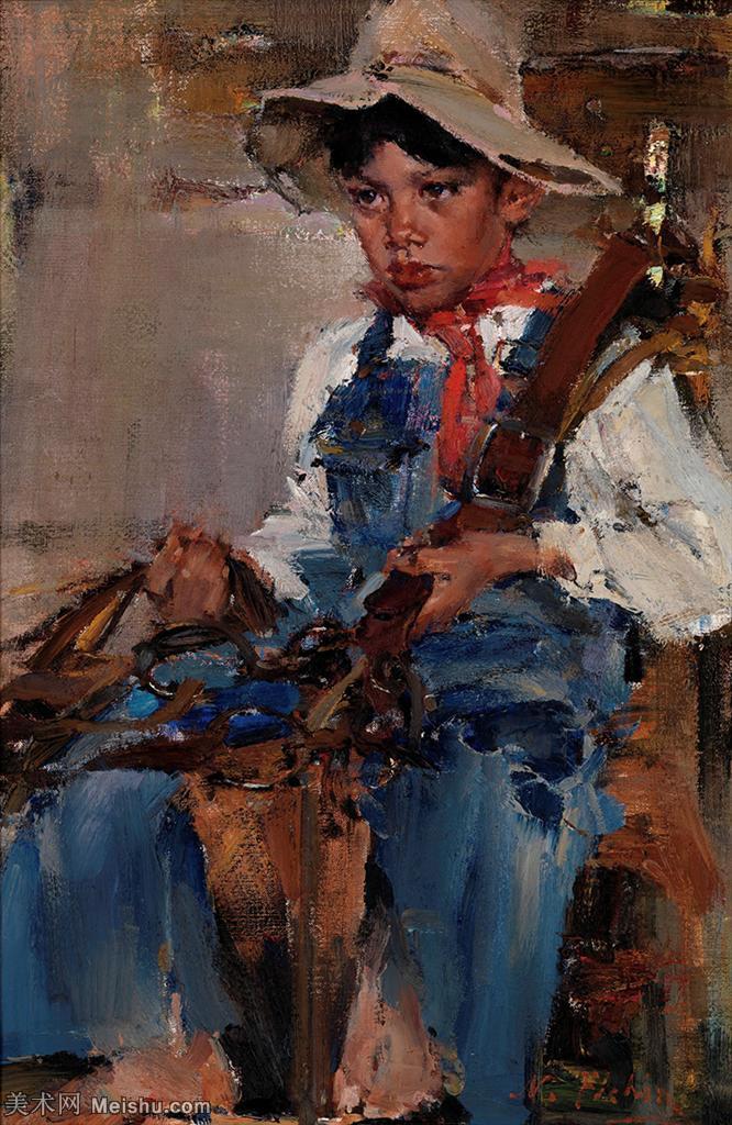 【欣赏级】YHR171336046-俄裔美籍画家尼古拉费欣Nicolai Ivanovich Fechin油画作品高清图