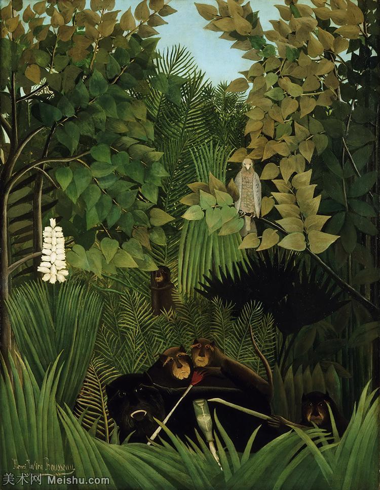 【打印级】YHR15114622-法国画家亨利卢梭Jacques Rousseau油画作品高清图片杰出的油画作品梦-28