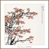 柿子红了220X180-海阳美协主席赵杰水墨作品
