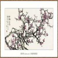 红梅迎春68X136-海阳美协主席赵杰水墨作品