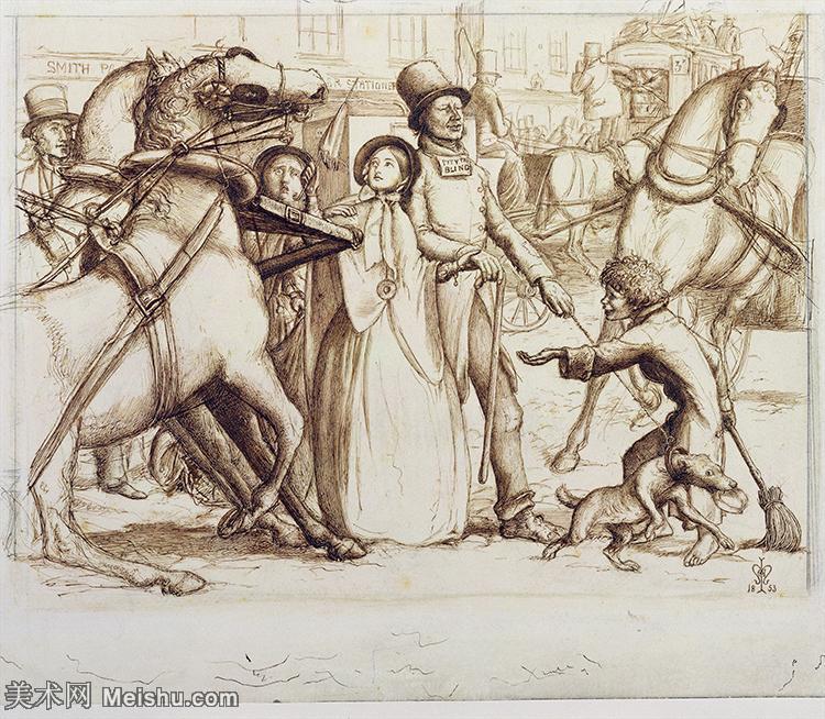 【欣赏级】SMR18142615-十九世纪英国画家约翰埃弗里特米莱斯John Everett Millais拉斐尔前派画