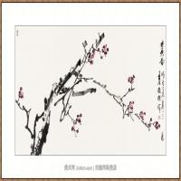 寒香图68X136-海阳美协主席赵杰水墨作品