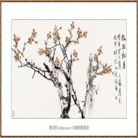 梅报新春68X136-海阳美协主席赵杰水墨作品