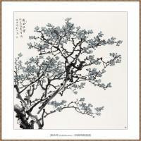 清风铁骨220X180-海阳美协主席赵杰水墨作品