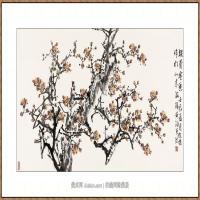铁骨含香68X136-海阳美协主席赵杰水墨作品