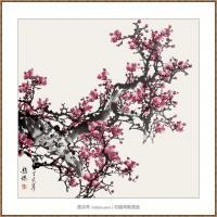 红梅97X97-海阳美协主席赵杰水墨作品