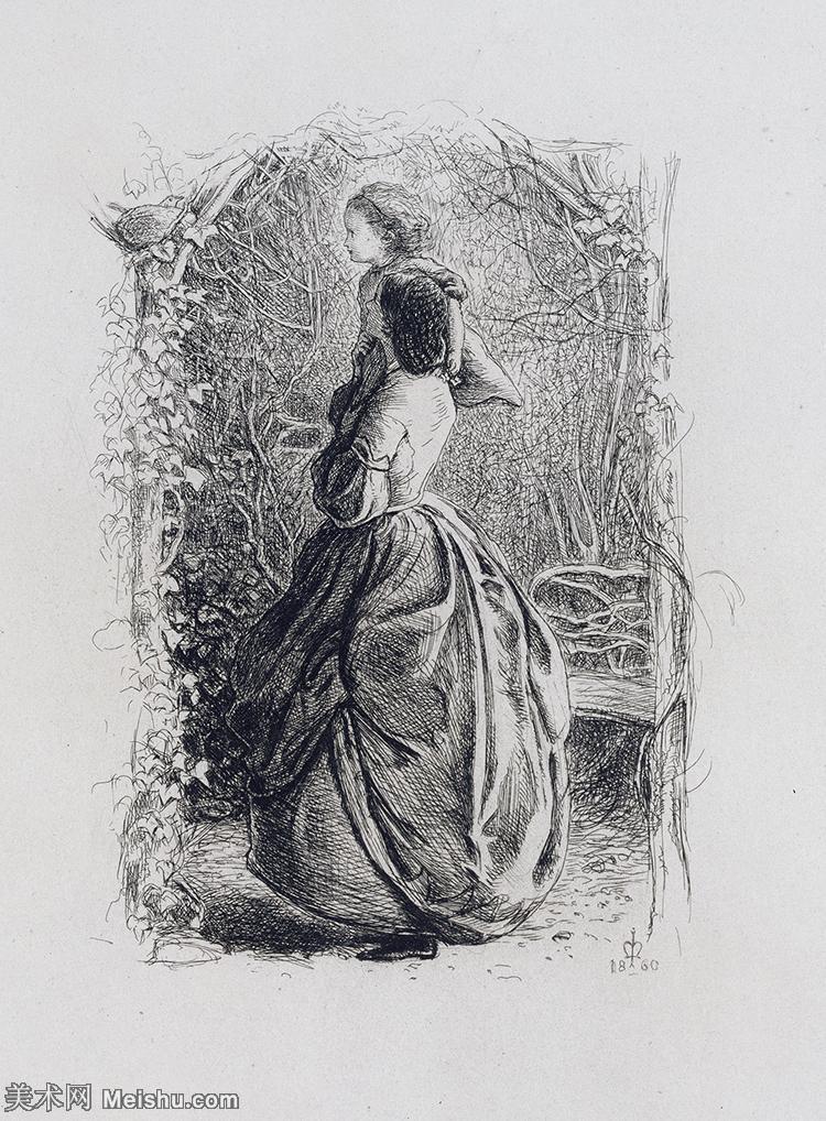 【欣赏级】SMR18142612-十九世纪英国画家约翰埃弗里特米莱斯John Everett Millais拉斐尔前派画