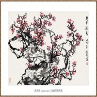 铁骨清香69X110-海阳美协主席赵杰水墨作品