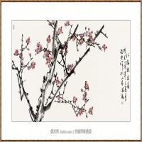 红梅报春68X136-海阳美协主席赵杰水墨作品