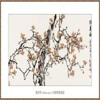 报春图  68X136-海阳美协主席赵杰水墨作品