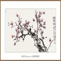寒香图68X136 (2)-海阳美协主席赵杰水墨作品
