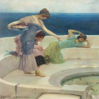 【打印级】YHR19113539-英国皇家画家劳伦斯阿尔玛塔得玛爵士Alma-Tadema油画作品高清大图古典油画装饰画高清图片 -21M-2378X3211