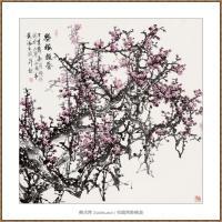 寒梅报春 68X68(2)-海阳美协主席赵杰水墨作品