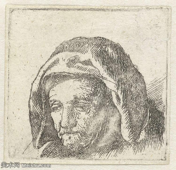 【打印级】SMR131517491-伦勃朗Rembrand素描线稿原作作品高清大图伦勃朗自画像伦勃朗的速写手稿作品伦勃朗