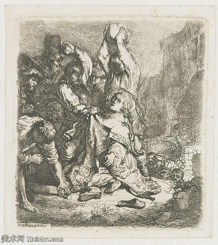 【打印级】SMR131517039-伦勃朗Rembrand素描线稿原作作品高清大图伦勃朗自画像伦勃朗的速写手稿作品伦勃朗