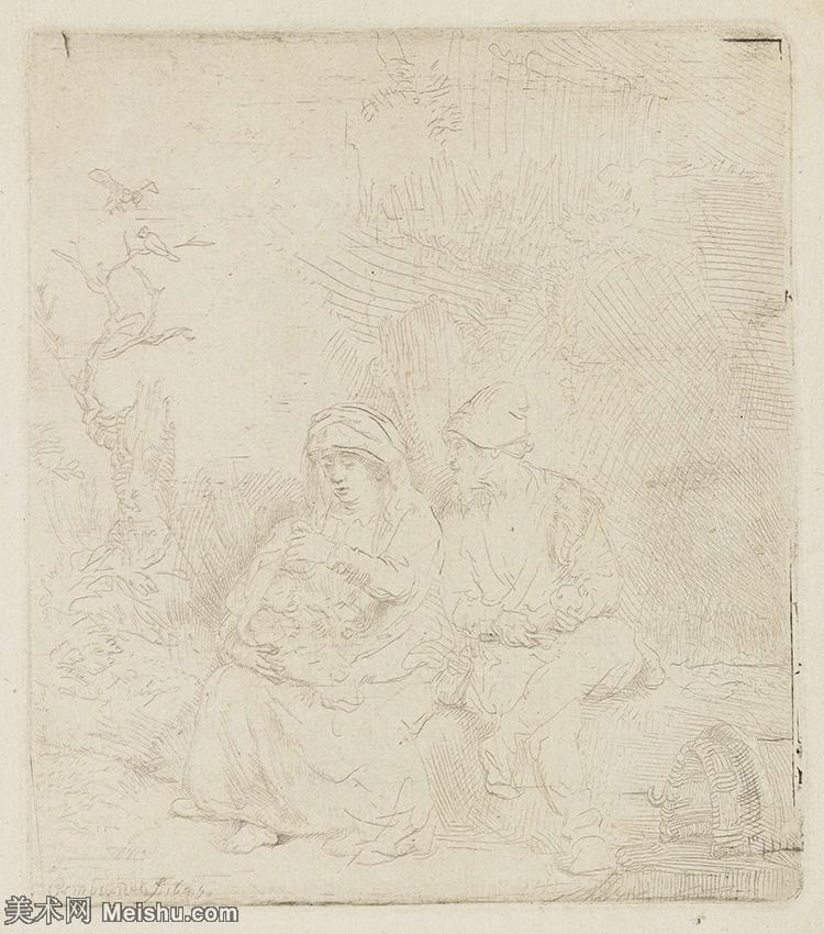 【打印级】SMR131517049-伦勃朗Rembrand素描线稿原作作品高清大图伦勃朗自画像伦勃朗的速写手稿作品伦勃朗