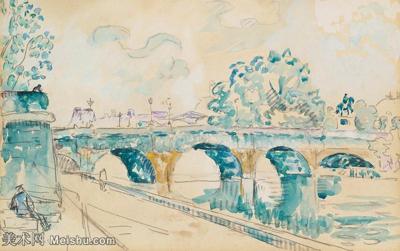 【欣赏级】YHR20155903-保罗西涅克Paul Signac法国新印象派点彩派大师西涅克绘画作品集-Paris.