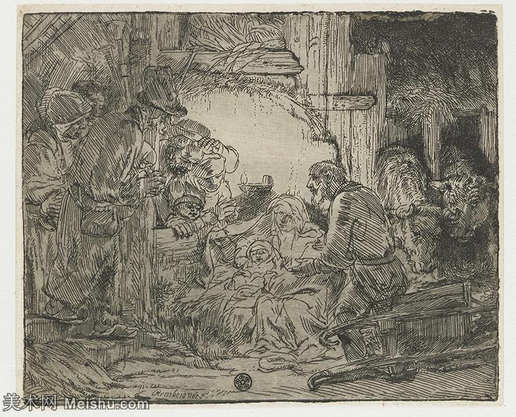 【欣赏级】SMR131517129-伦勃朗Rembrand素描线稿原作作品高清大图伦勃朗自画像伦勃朗的速写手稿作品伦勃朗
