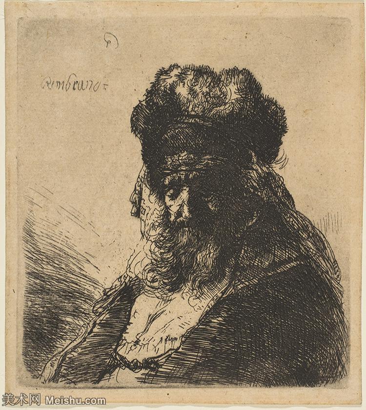【打印级】SMR131517004-伦勃朗Rembrand素描线稿原作作品高清大图伦勃朗自画像伦勃朗的速写手稿作品伦勃朗