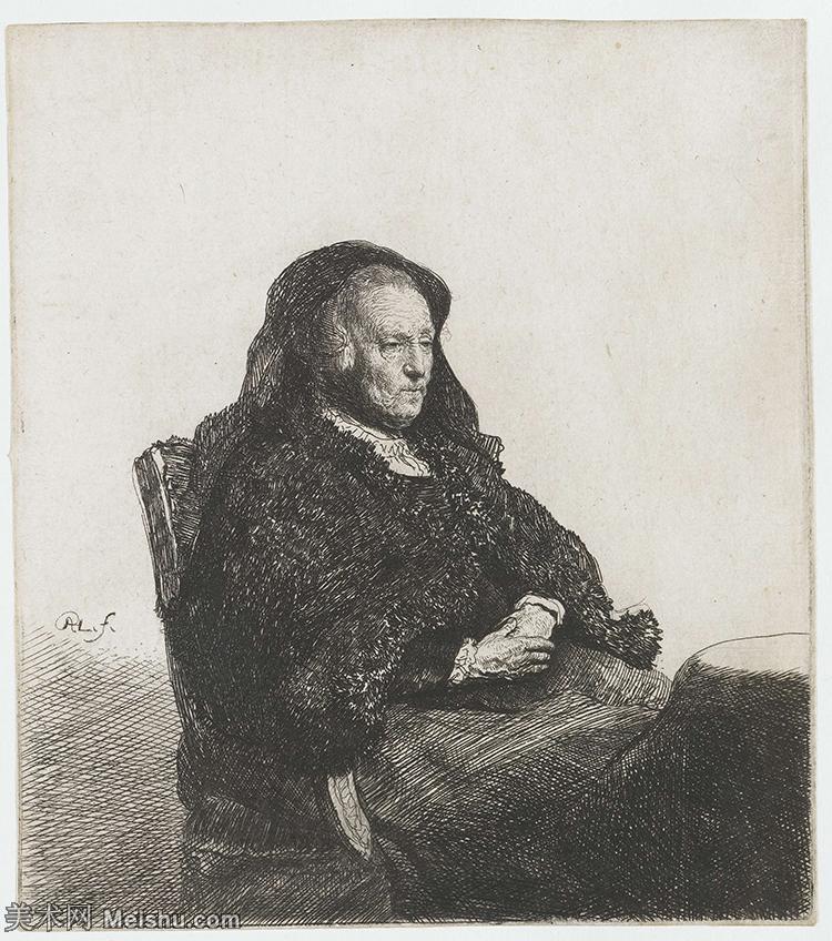 【打印级】SMR131517046-伦勃朗Rembrand素描线稿原作作品高清大图伦勃朗自画像伦勃朗的速写手稿作品伦勃朗