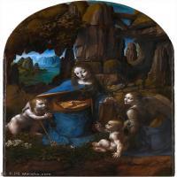 【打印级】YHR131403072-世界著名绘画大师达芬奇DaVinci油画作品高清大图蒙娜丽莎达芬奇世界著名油画作品高清图片-31M-2692X4150