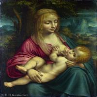 【打印级】YHR131403060-世界著名绘画大师达芬奇DaVinci油画作品高清大图蒙娜丽莎达芬奇世界著名油画作品高清图片-37M-3110X4226