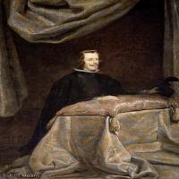 【欣赏级】YHR191129032-席尔瓦委拉斯凯兹Diego Rodríguez de Silva y Velázquez西班牙画家绘画作品集油画作品高清图片Taller de)Felipe IV,