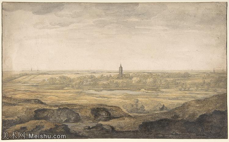 【打印级】YHR191143060-阿尔伯特比尔施塔特Albert Bierstadt美国画家风景油画高清图片落基山脉的