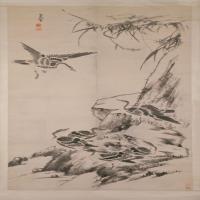 朱耷芦雁图轴-清朝-花鸟-中国古代花鸟绘画作品