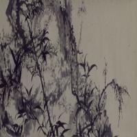石涛梅竹图卷-清朝-花鸟-中国古代花鸟绘画作品