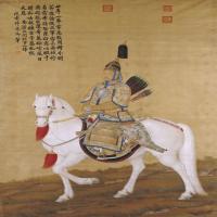郎世宁乾隆皇帝大阅图轴-清朝-人物-中国古代人物绘画作品