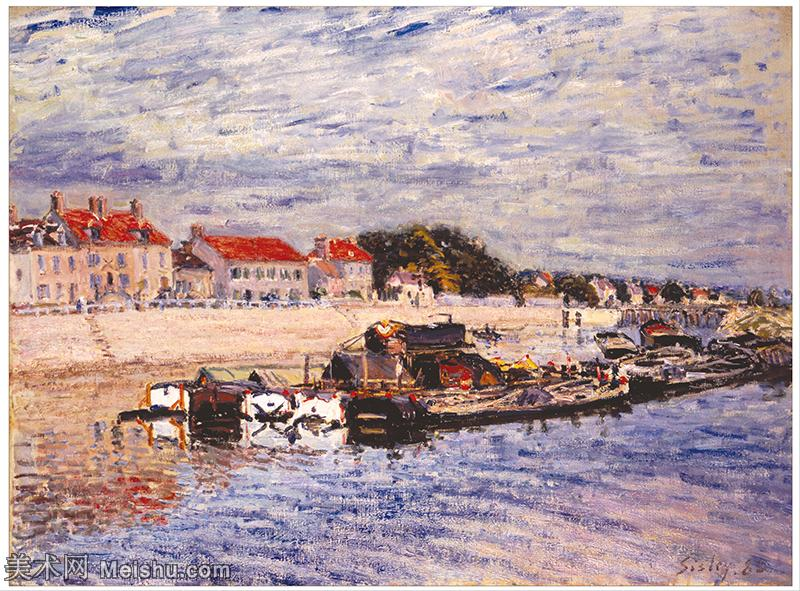 【印刷级】YHR190910123-阿尔弗莱德西斯莱Alfred Sisley法国印象派画家世界著名画家风景油画高清图片