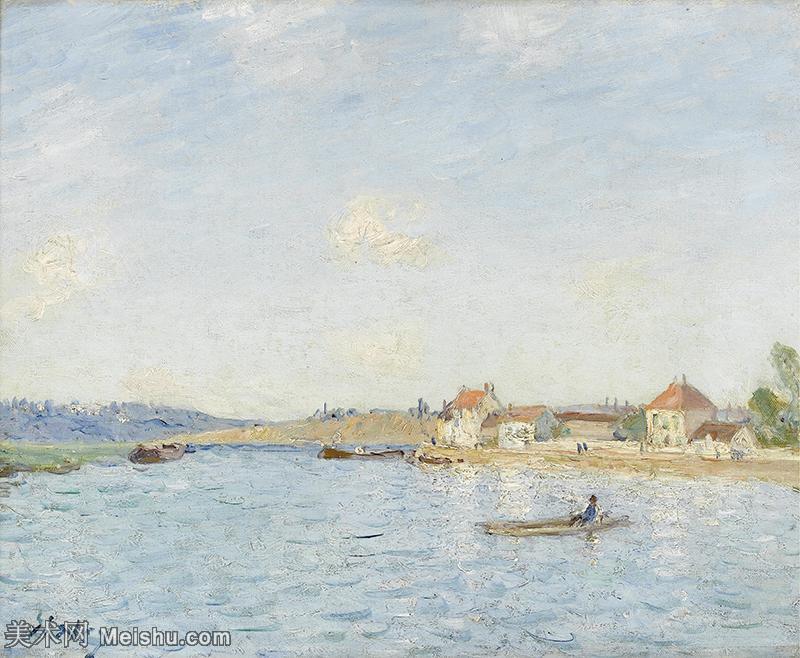 【印刷级】YHR190910113-阿尔弗莱德西斯莱Alfred Sisley法国印象派画家世界著名画家风景油画高清图片