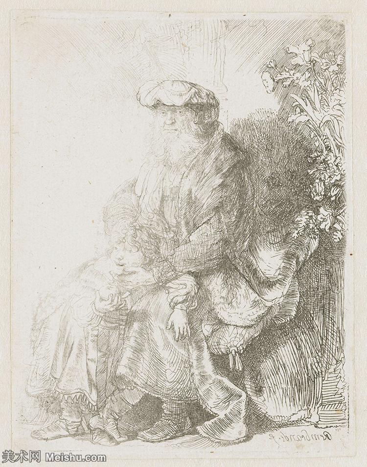 【欣赏级】SMR131517166-伦勃朗Rembrand素描线稿原作作品高清大图伦勃朗自画像伦勃朗的速写手稿作品伦勃朗