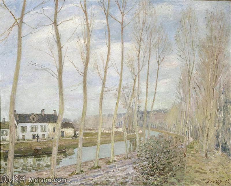 【印刷级】YHR190910120-阿尔弗莱德西斯莱Alfred Sisley法国印象派画家世界著名画家风景油画高清图片