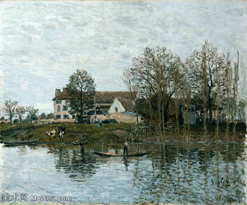 【印刷级】YHR190910122-阿尔弗莱德西斯莱Alfred Sisley法国印象派画家世界著名画家风景油画高清图片