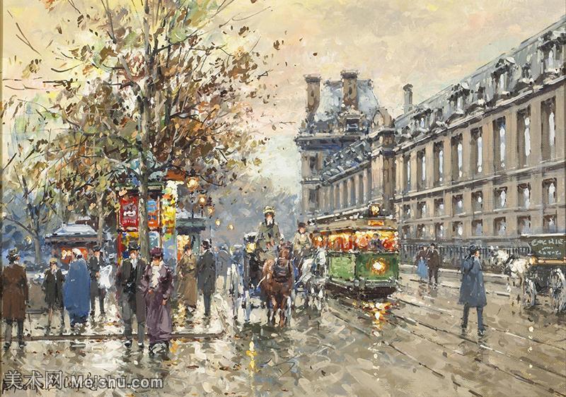 【欣赏级】YHR190853005-安托万布兰查德Antoine Blanchard法国画家艺术家城市景观绘画作品集油画