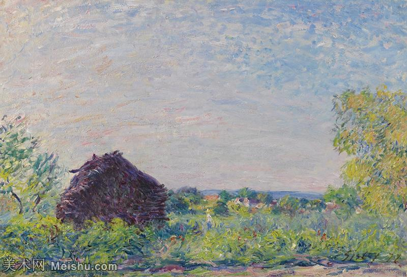 【欣赏级】YHR190910006-阿尔弗莱德西斯莱Alfred Sisley法国印象派画家世界著名画家风景油画高清图片
