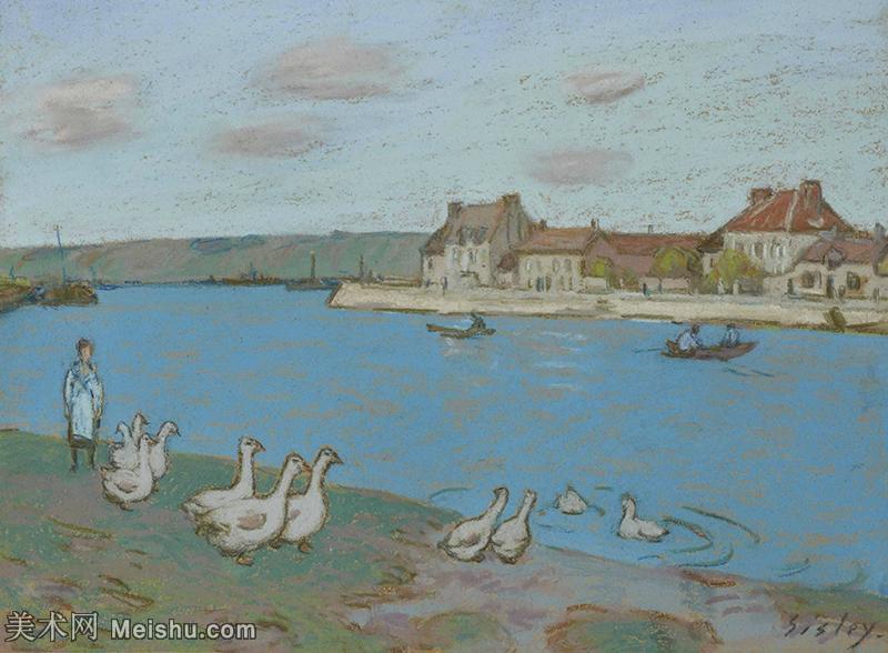 【打印级】YHR190910079-阿尔弗莱德西斯莱Alfred Sisley法国印象派画家世界著名画家风景油画高清图片