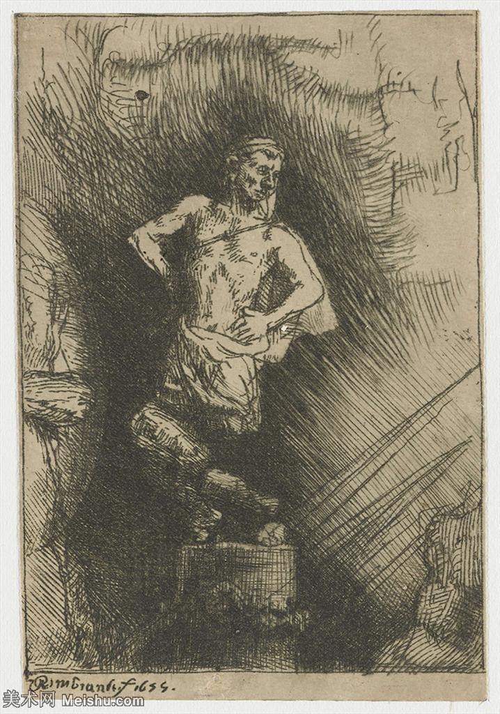 【欣赏级】SMR131517267-伦勃朗Rembrand素描线稿原作作品高清大图伦勃朗自画像伦勃朗的速写手稿作品伦勃朗