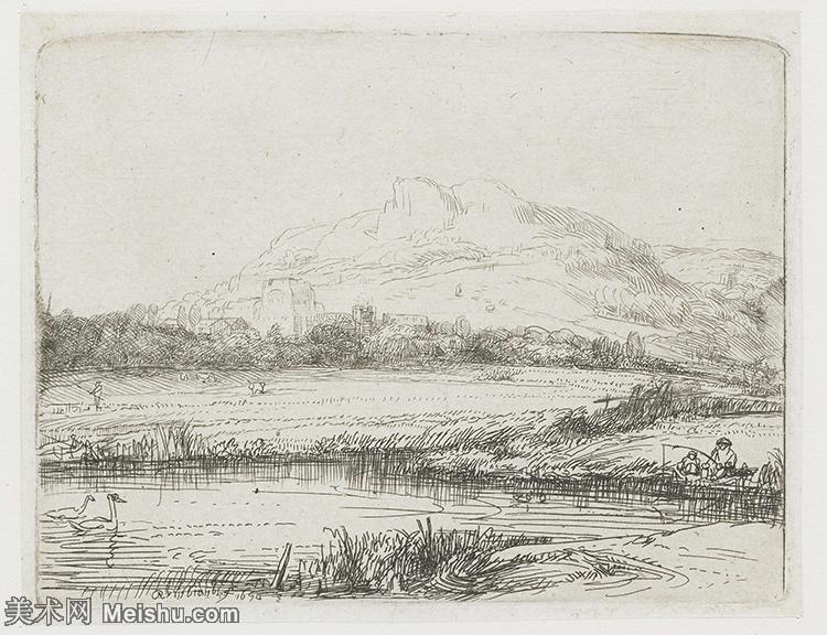 【欣赏级】SMR131517195-伦勃朗Rembrand素描线稿原作作品高清大图伦勃朗自画像伦勃朗的速写手稿作品伦勃朗