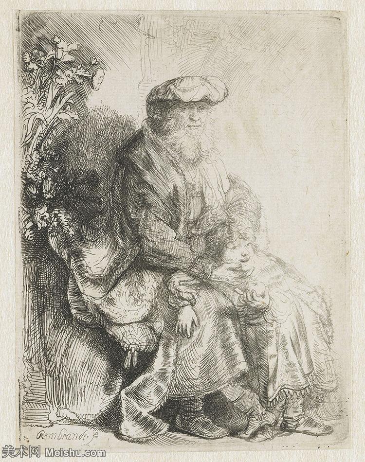 【欣赏级】SMR131517156-伦勃朗Rembrand素描线稿原作作品高清大图伦勃朗自画像伦勃朗的速写手稿作品伦勃朗