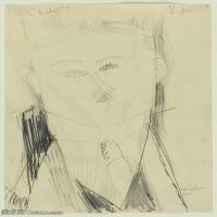 【印刷级】YHR19083745-阿梅代奥莫迪利亚尼Amedeo Modigliani意大利著名画家绘画作品集手稿素描作品高清图片Paul Guillaume-78M-4500X6075