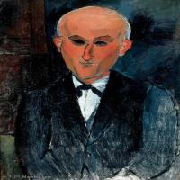 【打印级】YHR19083853-阿梅代奥莫迪利亚尼Amedeo Modigliani意大利著名画家绘画作品集油画作品高清图片Max Jacob-21M-2215X3391