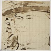 【打印级】YHR19083734-阿梅代奥莫迪利亚尼Amedeo Modigliani意大利著名画家绘画作品集手稿素描作品高清图片Portrait of the Sculptor Pablo Garg