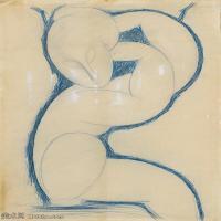 【印刷级】YHR19083742-阿梅代奥莫迪利亚尼Amedeo Modigliani意大利著名画家绘画作品集手稿素描作品高清图片Caryatid(6) -67M-4265X5542