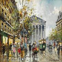 【欣赏级】YHR190853037-安托万布兰查德Antoine Blanchard法国画家艺术家城市景观绘画作品集油画风景高清图片-14M-2622X1886
