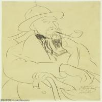【打印级】YHR19083738-阿梅代奥莫迪利亚尼Amedeo Modigliani意大利著名画家绘画作品集手稿素描作品高清图片Charles Guerin-37M-2852X4626